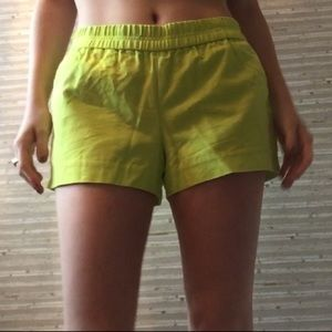 Lime Neon Stretch J. Crew Shorts🤩🥝